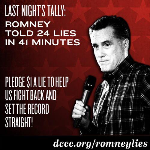 Mitt Romney, 24 lies in 41 minutes
